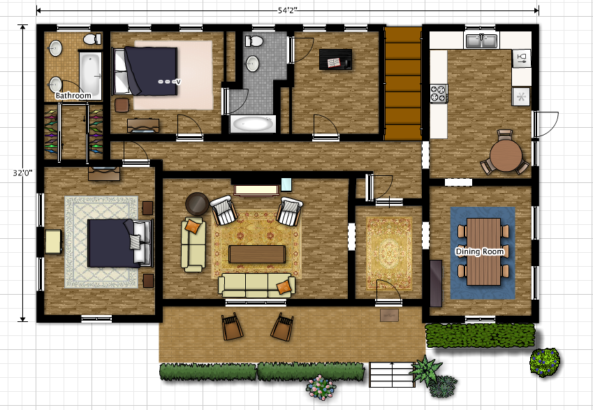 Our house from a bird s eye Plan my house