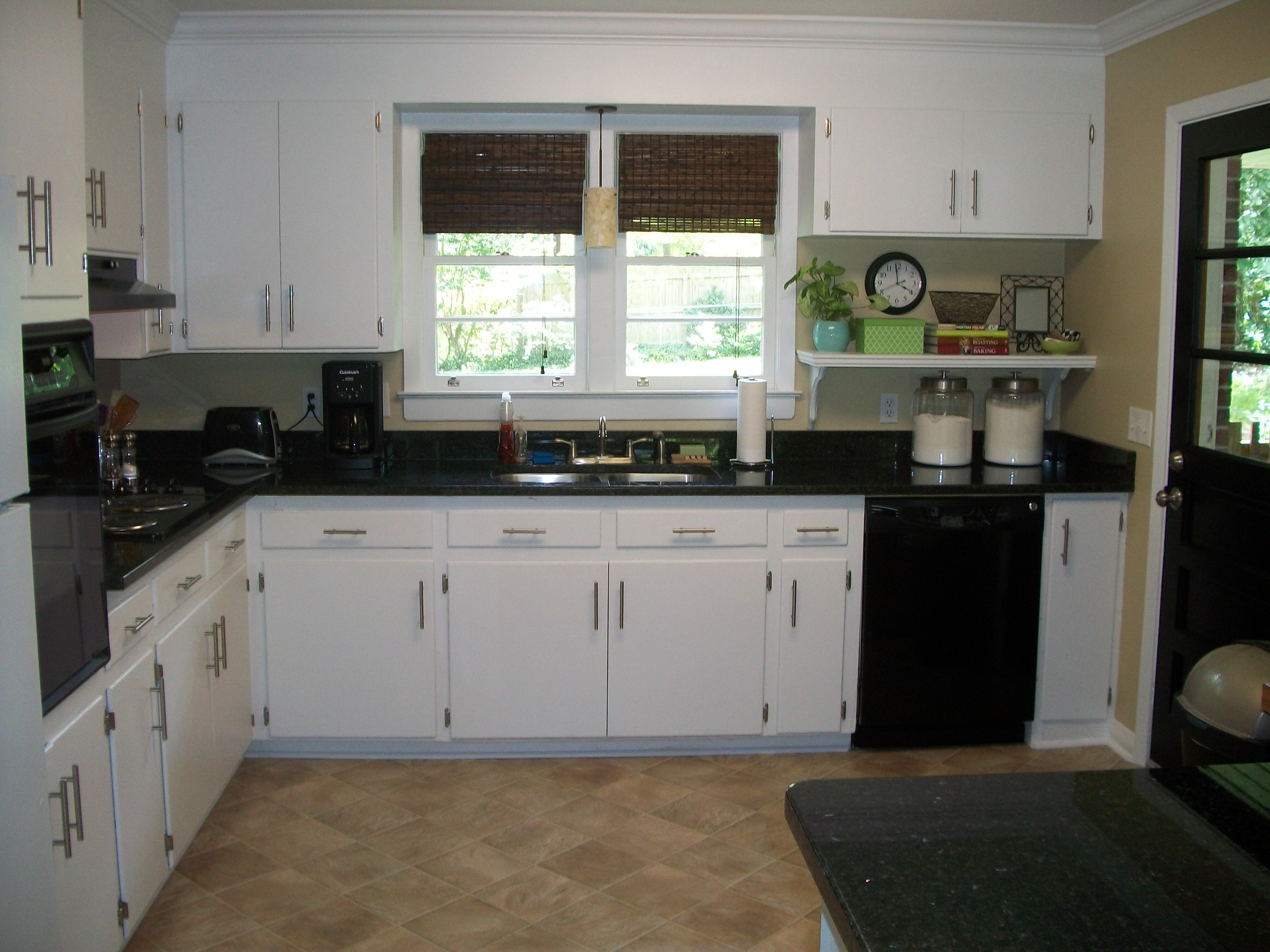 Black interior doors a do or a don t for Black granite kitchen designs